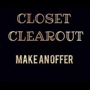 EVERYTHING MUST GO!! Closet clear out!!!